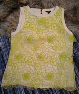 Ann Taylor Petite Lace Floral Sleeveless Top